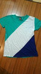 graniph 多色切り替え半袖Tシャツ L  グラニフ