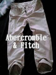 【Abercrombie&Fitch】Vintage Slim Straight チノパンツ 32/Stone