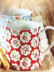 新品☆CathKidstonキャスキッドソン花柄マグカップ赤