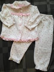 サイズ100☆ピンク花柄キルティングのパジャマ