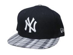 New York Yankees New Era MLB Team Plaid 9FIFTY Snapback Cap