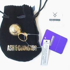 ASH&DIAMONDSアッシュ&ダイアモンドミラーボールリング【ゴールド】新品