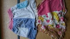 130可愛いスカート2枚難あり