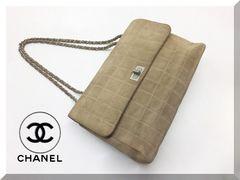 シャネル 2.55ライン スエードチェーンショルダー バッグ