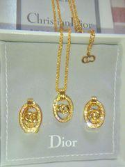 Dior ロゴモチーフ ネックレス&イヤリング価格\28,000 機内販売品未使用