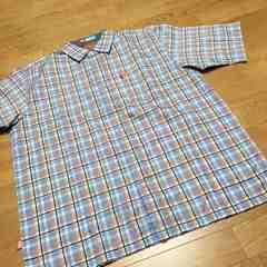 ecko-unltd エコー半袖チェックシャツロゴ刺繍サイズL→XL 新品