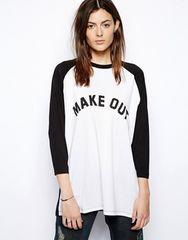 ASOSロゴオーバーサイズTシャツ UK6 ほぼ新品