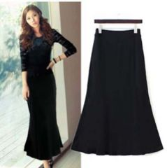 新品【5896】(大きいサイズ2L)黒マーメイドラインスカート