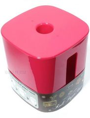 トイレットペーパー ロール ホルダー ケース カバー 角 桃ピンク