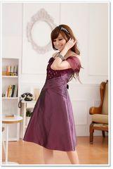 ★新品★大きいサイズ★3L★上品バックリボン付シフォンオフショルダードレス