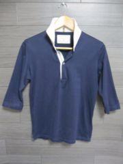☆EDIFICE/エディフィス 1B 七分袖 ポロシャツ/メンズ38(S)