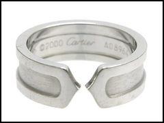 Cartier カルティエ C2 リング k18 750 ホワイトゴールド ♯51