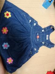 ミキハウス デニムのジャンパースカート サイズ100