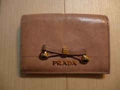 PRADA プラダ リボンの定期入れ・カードケース