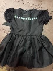 女児90サイズ☆黒ドレス☆1回着用