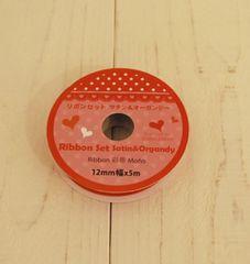 新品 12mm幅5m 赤リボン