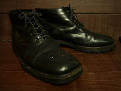 BIEN NICEイタリア製レザーブーツ26.5〜27cm位黒ブラック