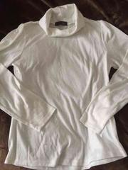 新品タートルネックホワイトTシャツ