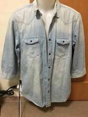 RAGE BLUE ウエスタン7部袖シャツ  L 定価4,410円レイジブルー