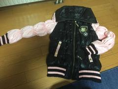 新品!激可愛☆バイカラーダウン☆ブラック×ピンク・L
