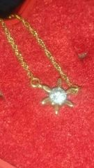 K18 一粒ダイヤモンド 0.1カラット ゴージャスネックレス