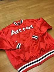 MLB   Astros  サテン生地スタジャン  sizeXXL  used美品