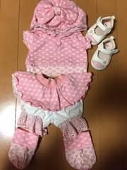 シェリーメイ☆お洋服☆ピンク☆ハート柄☆おまけ赤ちゃんの靴付