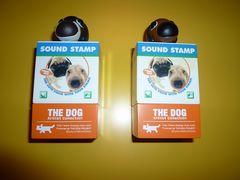 スタンプを押すと犬がしゃべるボイス付印鑑ハンコ台the dog動物雑貨小物
