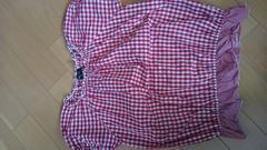 150cm COMMECAISMコムサイズム ギンガムチェックシャツ