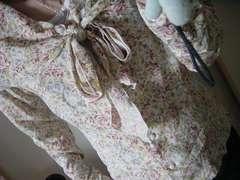 【お嬢様系】大きめフリルエリ花柄シャツ