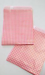 R70サイズ平袋★チェック赤30枚☆キュート紙袋