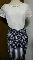 ☆JUSGLITTY☆チェックリボンスカート☆雑誌掲載☆