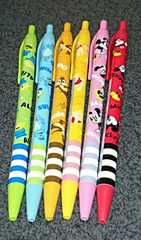 ディズニーキャラクターボールペン 6本