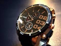 BIGフェイス ディーゼルtype クロノ腕時計