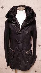 KMRIIケムリ BLACK Metal Duffle Coat 1