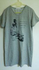 ローリーズファーム モノトーンプリント ロング丈半袖Tシャツ/カットソー LOWRYSFARM