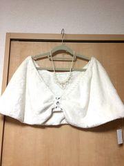 新品 アナ雪風 ドレスに ケープ 白 大きいサイズです6L