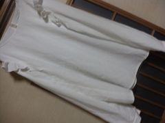 EHG*フリル白長袖ブラウスF*クリックポスト164円