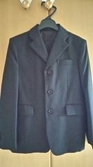 ストライプ黒スーツ(長ズボン)◇男子140cm◇美品