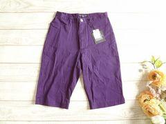 新品 AFRICAN BEAT CLUB ハーフ パンツ S 61 紫