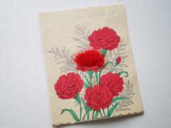 処分大特価◆ヴィンテージ◆お花 グリーティングカード USED[GR#8]