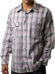 即決★RocaWearロカウェア長袖シャツ(グレイ)3XL大きいサイズ