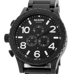 新品♪ニクソン 51-30 クロノ オールブラック◆A083001