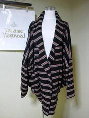 【ViVi/アングロマニア】7万極美品ストライプ柄変形素敵コート