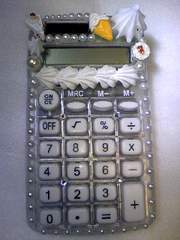 スケルトンホワイトデコ電卓