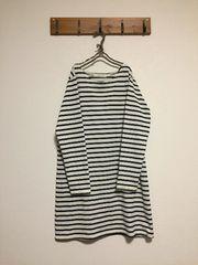 ローリーズファームバスクシャツボーダーワンピース/ナチュラル