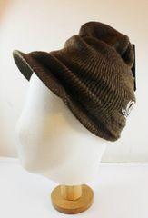 海外モデル品 キャスケットニット帽子 ブラウン