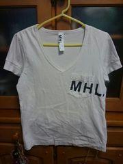 ☆美品☆マーガレットハウエル・MHL☆ロゴTシャツ・薄いグレー☆