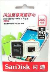 サンディスク microSDXC(SanDiskマイクロSDXCカード200GB)200ギガ クラス10