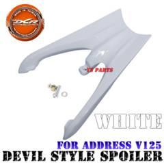 【高強度】アドレスV125高強度デビルテール白リアウイング龍尾型ウイング
